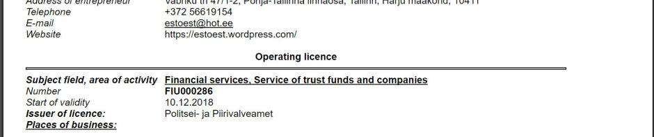 Регистрация, продажа, ликвидация компаний в Эстонии